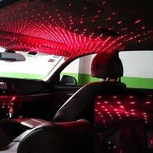 Onever מיני LED רכב גג כוכב לילה אורות מקרן אור פנים סביבה אווירה Galaxy מנורת קישוט אור USB תקע