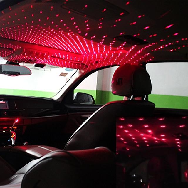 Onever Mini Led Auto Dak Star Night Lights Projector Licht Interieur Ambient Sfeer Galaxy Lamp Decoratie Licht Usb Plug