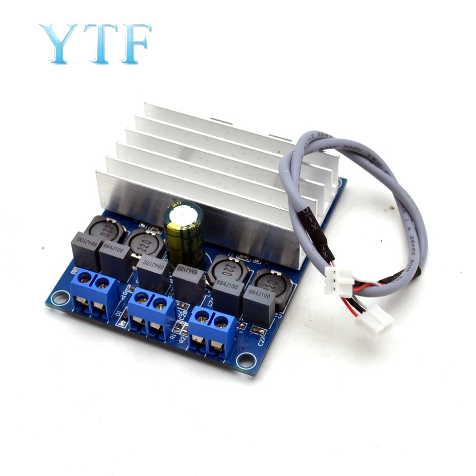 TDA7492 2 X 50W D Class High-Power Digital Amplifier Board AMP Board With Radiator