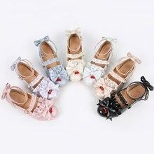 Аниме Косплей туфли Лолиты в винтажном стиле; Круглый носок