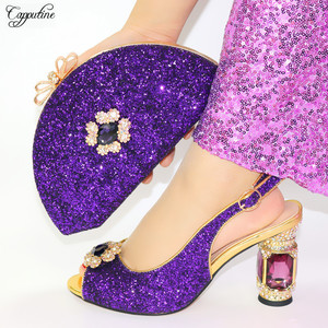 Hot Sale Purple Shoes Bag Set