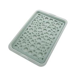 Big deal plastikowy prostokątny talerz na owoce kreatywny podwójny kubek sitko tacka stolik do kawy filiżanka wody taca herbaciana do domu|Półki i uchwyty|Dom i ogród -