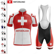 CH Cycling Clothing 2021 Switzerland Custom Ropa Ciclismo Hombre Cycling suit Cycling Set Mtb Bike Uniforme Maillot Ciclismo