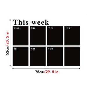 Calendar Blackboard Removable Board Decal Sticker