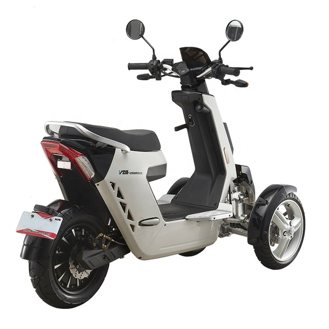 EEC Approved Street Legal 3 Wheels Front 2 Wheels Type Electric Motorcycle 3000W 72V40AH Electric Mobility Scooter Off Road 5