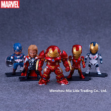 Hasbro Avengers 5pcs/set Iron Man Hulkbuster Thor Captain America Doll Model toys