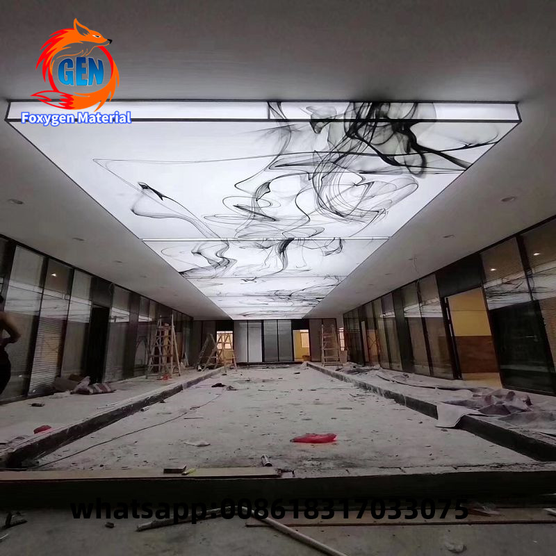 15 Years Quality Guarantee 3D Digital Printing Translucent Stretch Ceiling Film
