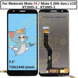 Image 3 - Pantalla LCD para Motorola Moto E6s E6 Play E6 Plus, Sensor de ensamblaje de digitalizador con pantalla táctil para moto E6 Plus E6 E6S LCD con marco