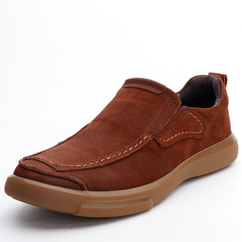 men casual shoes Thick Bottomed Anti-slip men casual natural leather loafers Driving shoes soft spring and autumn summer cowhide