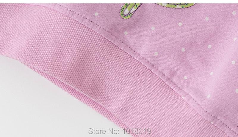 H8563ea6d1cb34f3884bbd2b2d5a0edbbD Bebe Girls s Fleeces Sweatshirt 100% Terry Cotton Sweater Children t shirt Kids Hoodies Blouses Baby Girl Clothes Dots Flower