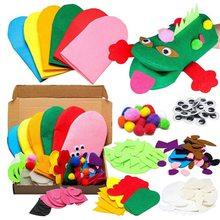 Making-Materials-Set Hand-Puppet Party-Supplies Craft Theater Animals Diy Felt Telling-Gloves