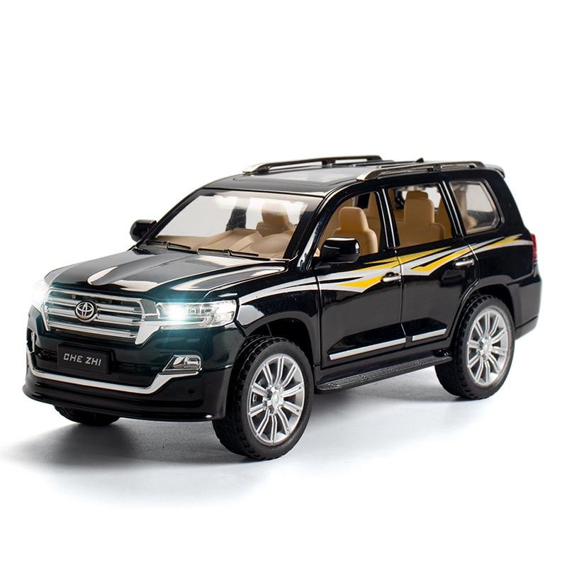 Toyota Land Cruiser Suv 2020 Diecast 1:24 Alloy Car 1/24 Scale Model Vehicle Pull Back Sound Light Cars Boys Toys 009