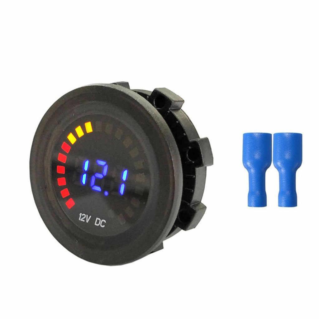 Voiture accessoires couleur écran LED numérique tension Volt compteur affichage moto voiture voltmètre Voltimetro Amperimetro numérique