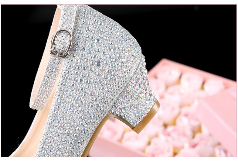 High Heels Diamond Party Shoes