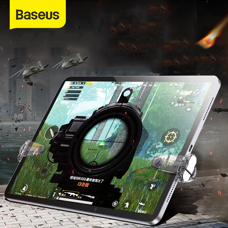Baseus Gamepad Joystick for Tablet iPad Pad L1 R1 Gaming Trigger Mobile Shooter Controller FPS Pad Game Fire Button Aim Key image