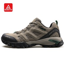HUMTTO Hiking Shoes for Men Outdoor Sports Camping Shoe Tactical Sneakers Cow Suede Genuine Leather Breathable Non slip Big Size