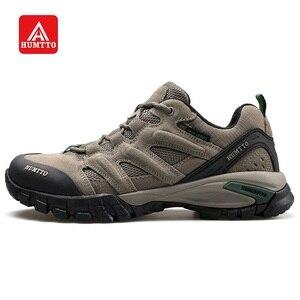 Image 1 - Мужская обувь для походов HUMTTO, спортивная обувь для активного отдыха, кемпинга, тактические кроссовки из коровьей замши, дышащая нескользящая обувь большого размера