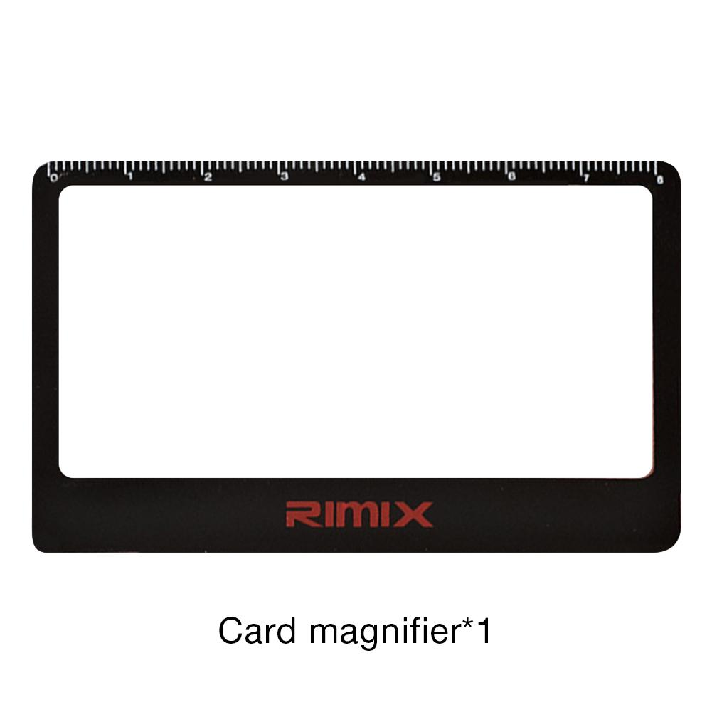 Portable Card Magnifier Reading Focus Magnifier With Scale For Home Camping Equipment High Magnification Magnifying Glass Double