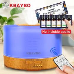 500ml nawilżacz zdalnego sterowania Aroma dyfuzor olejków eterycznych z 4 ustawieniami timera 7 zmiana koloru lampy LED w Nawilżacze powietrza od AGD na