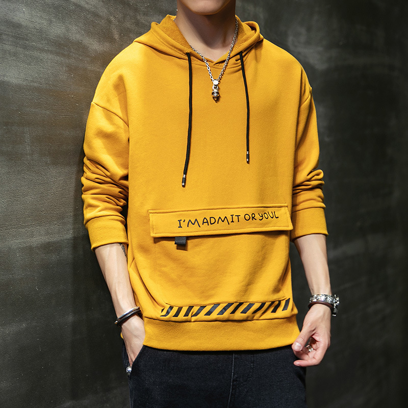 Hooded Long-sleeved Sweater Men Printed Europe and America Large Size Spring and Autumn Pullover Fashion Hoodie Casual Trend Men 1