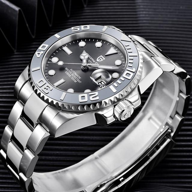 PAGANI Design Men Automatic Watch Sapphire Luxury Mechanical Wristwatch Stainless Steel Waterproof Watch Men Mekaniska klockor 2