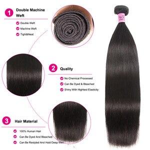 """Image 4 - UNICE שיער פרואני ישר שיער חבילות צבע טבעי 100% שיער טבעי הרחבות 8 30 """"רמי שיער Weave 1 pc שחור שישי עסקות"""