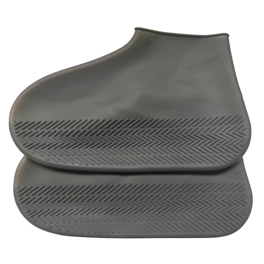 Unisex Rain Boots Shoe Covers Reusable Children PVC Rubber Boots Non-slip Water shoes Cover Rainy Day Men Women Size 32-43 A40