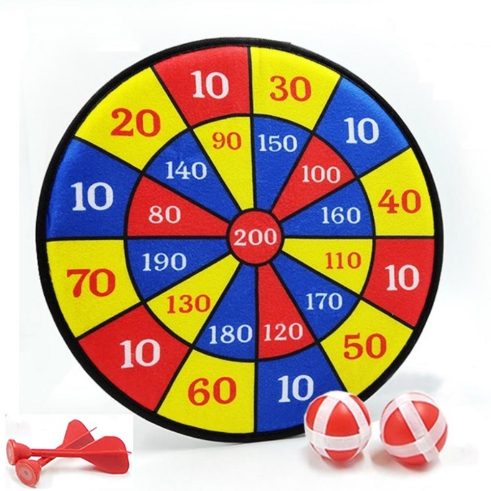 Dart Board With Cloth Sticky Balls Darts Throwing Game Toy For Children Indoor Outdoor Sports