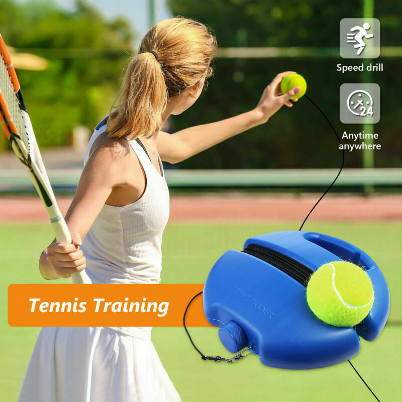 Basic Exerciser Tennis Training Tool Tennis Trainer With Rope Singles Beating Automatic Rebound Rubber Band Sparring Device