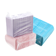 125 pçs/saco descartável dentista lenço de papel médico higiene oral tatuagem babador resistente à água lenço neckerchief material dental