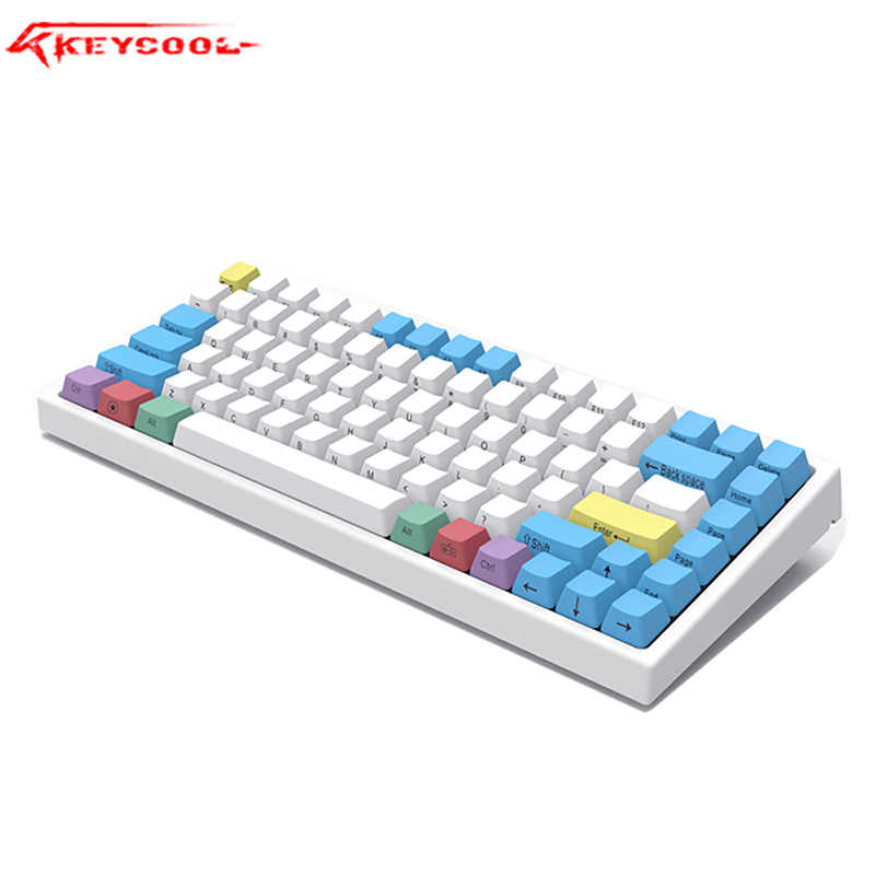 Keycool 84RGB Lampu Latar Keyboard Mekanik PBT Keycap Gateron Hotswaple Switch Laptop Kabel Keyboard.84gaming Kantor