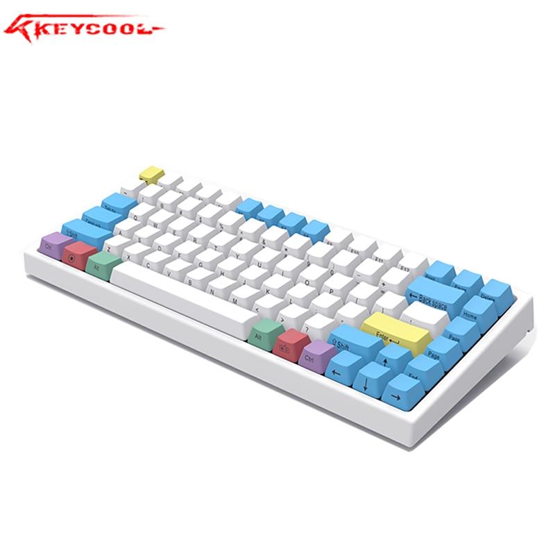 Keycool  84RGB Backlighting Mechanical Keyboard PBT Keycap Gateron Switch Laptop, Wired Keyboard.84gaming Office