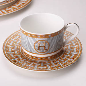 Coffee-Cup Saucer-Bone Ceramic China Dishes-Plate Room-Decoration And Model Steak Western