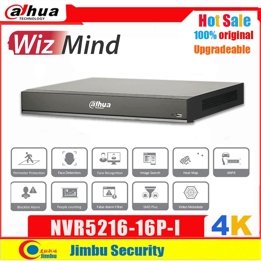 Dahua-Grabadora de vídeo de red WizMind, 16 canales, 16PoE, NVR5216-16P-I, SMD Plus, ANPR, detección facial, reconocimiento de personas, conteo IVS
