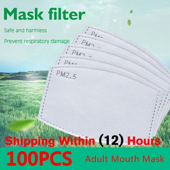 100pcs/Lot PM2.5 Filter Paper Anti Haze Mouth Mask Anti Dust Mask Activated Carbon Filter Paper Health Care For Adult