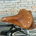 Ретро кожаное весеннее сиденье амортизация Подушка Велоспорт универсальная удобная замена старый стиль классическое велосипедное седло