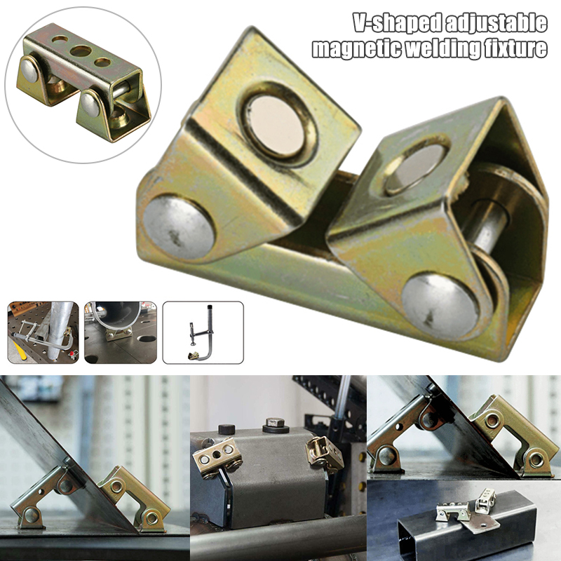 V-Type Welding Clamps Adjustable Magnetic Tab Holder Fixture Strong Hand Tool New SP99