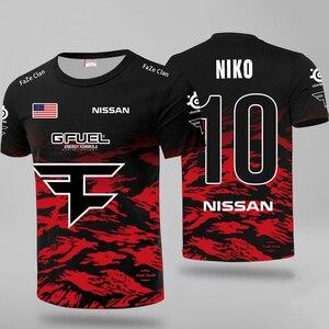 CSGO E-sports Team Faze Players Uniform Jerseys T Shirt Niko Fans T-shirt Men Women Faze Clan Custom ID T Shirts Rain Tees Shirt