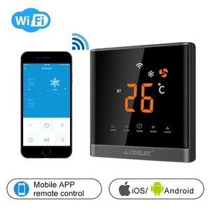 Regulator temperatury klimatyzator termostat WIFI kontrola aplikacji temperatury AE-668-K ekran dotykowy LED