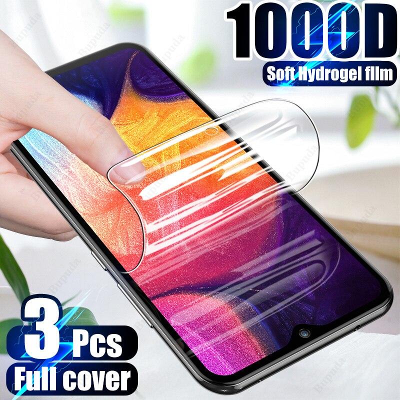 Гидрогелевая пленка 3 шт., Защитная пленка для Samsung Galaxy A50, A51, A70, A71, A30S, A50S, мягкая защитная пленка для Samsung M51, M20, M30S