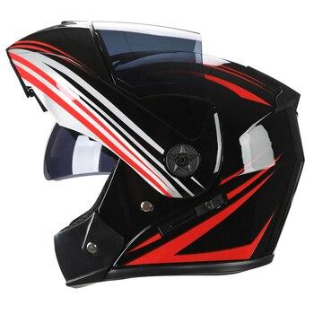 2 Gifts Unisex Racing Motorcycle Helmets Modular Dual Lens Motocross Helmet Full Face Safe Helmet Flip Up Cascos Para Moto kask 10