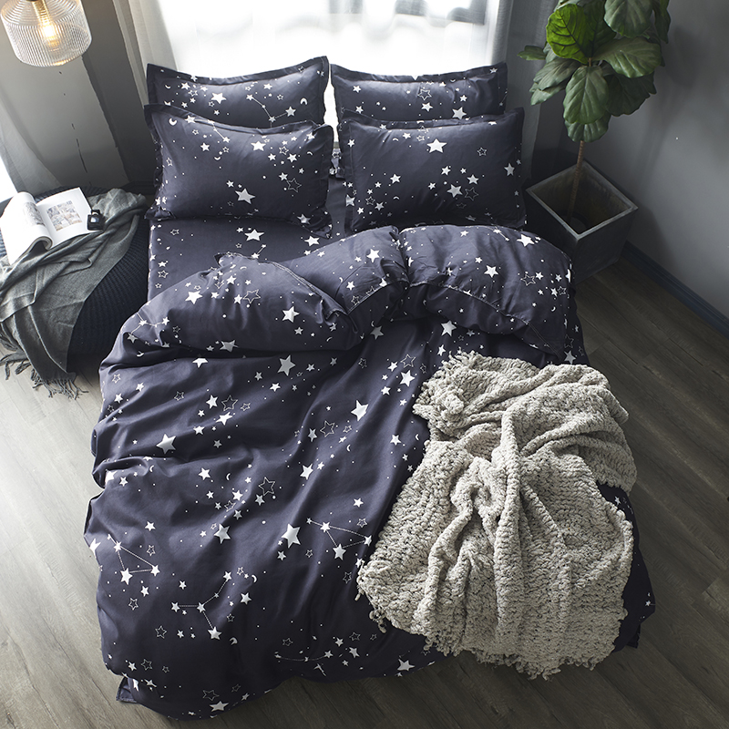 Bedding Sets Duvet Cover3/4pcs Cartoon fashion Bed sheets Single Twin Full Queen Sizes gife dropshipping Stars