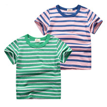2019 Kids Baby Boys Girls T-shirt Infant Toddler Short Sleeve Striped Cotton Tops Shirt Children Unisex Summer Girls Tops high quality unisex baby boys girls polo shirts children summer short sleeve cotton striped tshirt