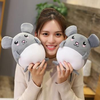 New 1pc 35-55CM Lovely Grey Rat Pillow Stuffed Animal Plush Toys For Girls Children Boys Cute Mouse Dolls Birthday Gifts