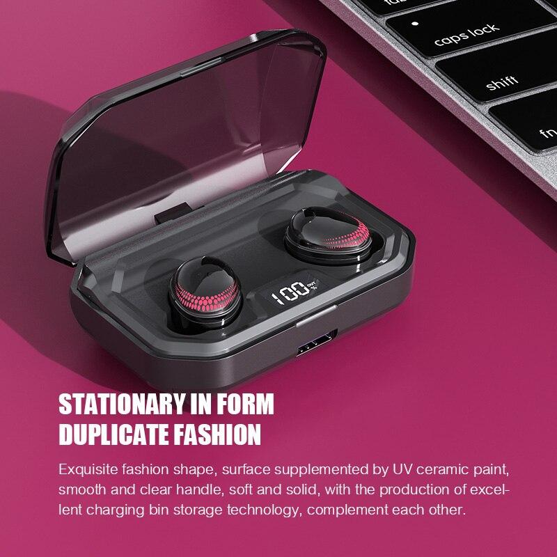 Auriculares Bluetooth 5,0 TWS auriculares deportivos auténticos auriculares inalámbricos con Control táctil 8D auriculares estéreo impermeables para teléfonos - 5
