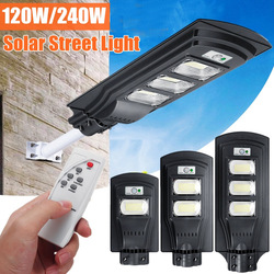Augienb conduziu a lâmpada de parede solar 120w/240w/360w super brilhante radar pir sensor de movimento segurança para jardim ao ar livre
