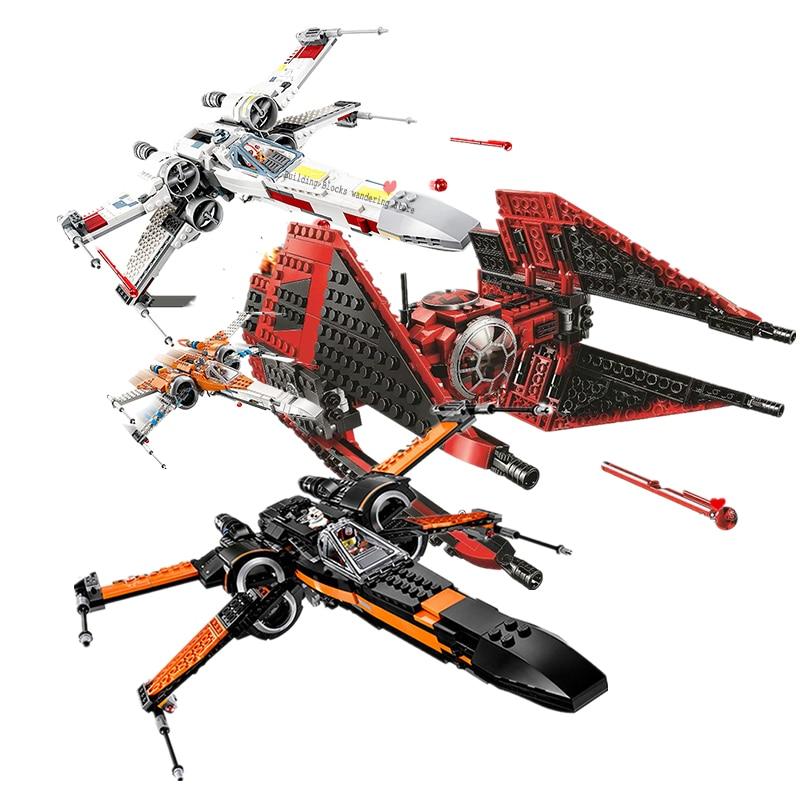 75240 Major Vonreg's TIE Fighter X Wing Star Starfighter TIE Fighter Building Blocks Toys Compatible Lepinglys StarWars