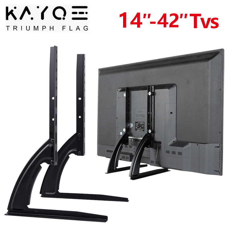 Universal TV Wall Mount Bracket for Most 14-42 Inch LED Plasma TV Mount Stands Up To VESA 400x200mm and 77 LBS Loading Capacity