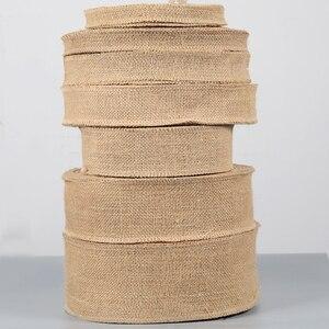 Image 5 - IBOWS 50yards Jute Burlap Ribbon Natural Hemp Ribbon for DIY Bag Material Wedding Party Craft Decorative Gift Warrping Wholesale