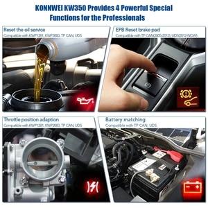 Image 4 - Konnwei KW350 Car Diagnostic Scanner Support For VW for Audi / For Skoda / For Seat  Airbag SRS ABS Brake Oil Reset EBP